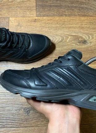 Кроссовки ecco original черные настоящая кожа 39 размер