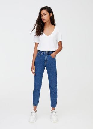 Mom jeans джинсы pull&bear