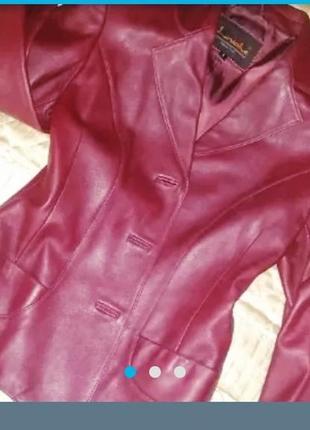 Кожаная курточка новая