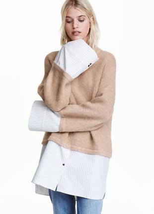 Шерстяной свитер h&m eur m джемпер кофта