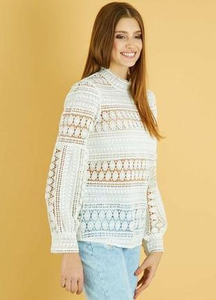 Кружевная плотная блуза kiabi