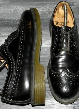 Dr. martens ! оригинальные, стильные,кожаные невероятно крутые туфли-оксфорды