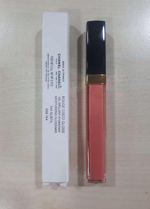 Блеск для губ chanel rouge coco gloss 744 - subtil (тестер), по срокам