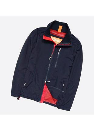 Superdry m / мужская тёмно-синяя куртка-ветровка, осень-весна