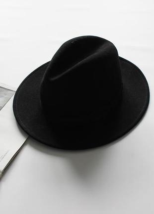 Красивая черная фетровая шляпа м