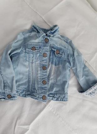 Джинсовка голубая джинсовая куртка 92 см