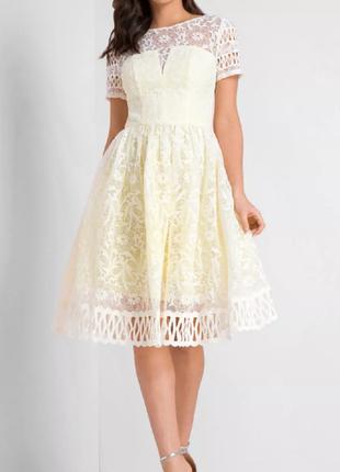 Шикарное лимонное платье chi chi london