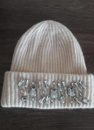 Зимняя шапка со стразами h&m