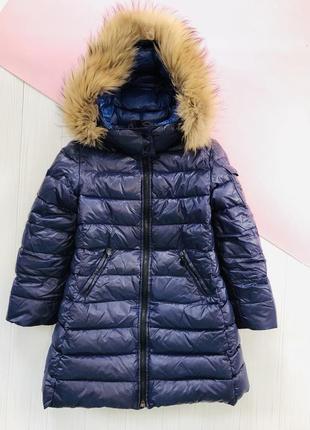 Зимний пуховик пальто натуральный пух
