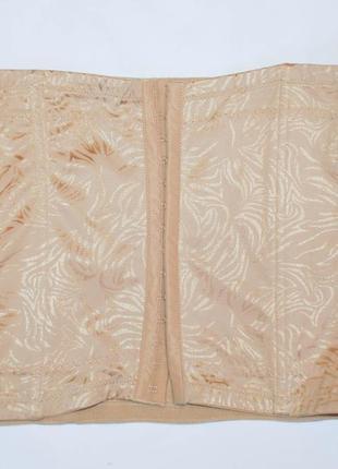 Утягивающий пояс корсет утяжка на косточках с косточками телесная  42 44 46 48