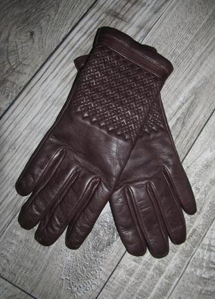 Люкс линейка кожаные перчатки  vera pelle  р.7.5