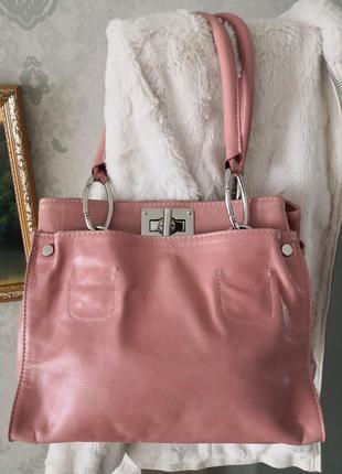 Элегантная кожаная сумка borse in pelle, италия