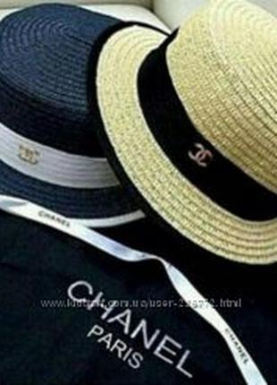 Шляпа соломенная как chanel