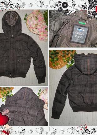 Обнова! куртка пуховик benetton (р.46 (m)) курточка