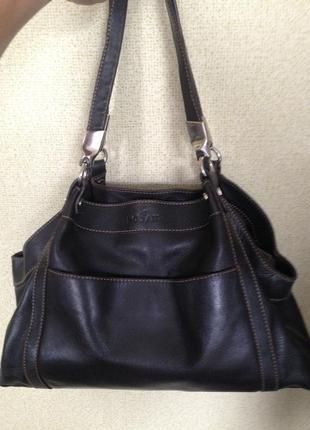 Кожаная сумка hogan, оригинал 100%