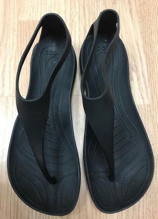 Кроксы crocs босоножки sexi flip сандалии  w6 маломерят