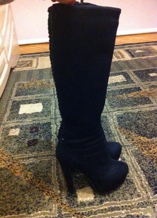 Обувь ; сапоги на высоком каблуке