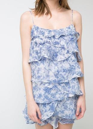 Женственное воздушное платье mango