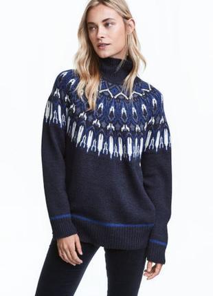 Жаккардовый свитер h&m