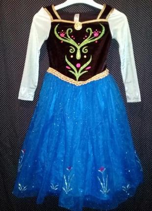 Карнавальное платье анна из холодное сердце на 7-8лет.