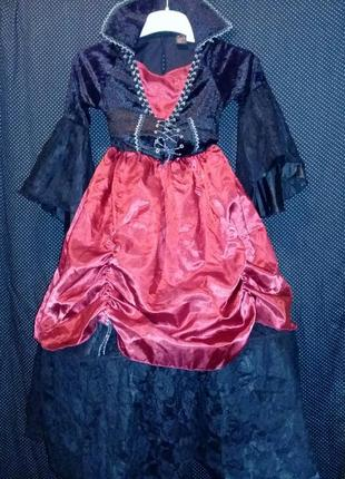 Карнавальное платье на хеллоуин 6-7лет.