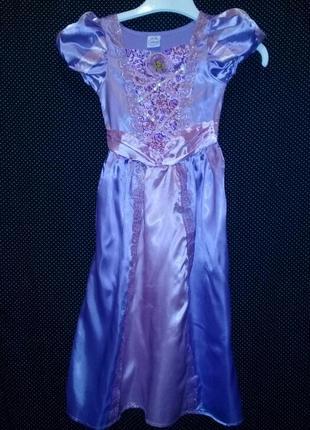 Карнавальное платье рапунцель на 5-6лет.