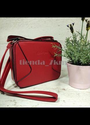 Женская сумка через плечо / повседневный клатч little pigeon 11890a  красный