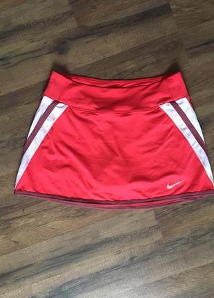 Фирменная юбка-шорты nike s pure skirt для тенниса оригинальная фитнеса спорт брендовая