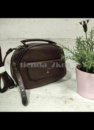 Женская сумка через плечо / повседневный клатч little pigeon 11891 коричневый