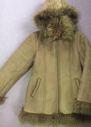 Детская дублёнка шубка пальто