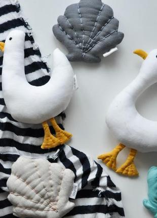Чайки для малышей игрушки из ткани льняные игрушки с рождения безопасные игрушки