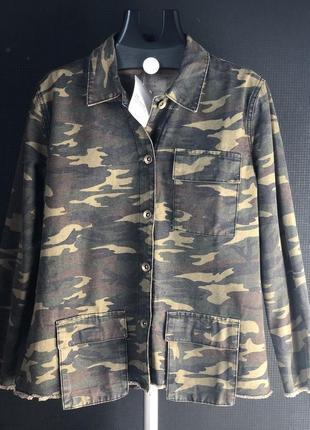 Женская камуфляжная   куртка рубашка zara