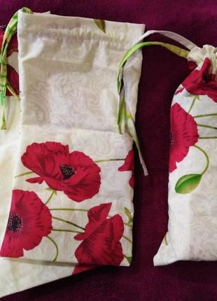 Распродажа!!набор эко-мешок/мешочек-сумочка для хранения грибов, трав, круп и прочего