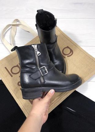 Ботинки кожаные италия деми