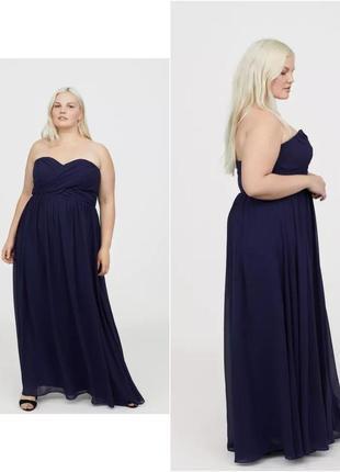 Шикарное вечернее платье h&m, новое р.52