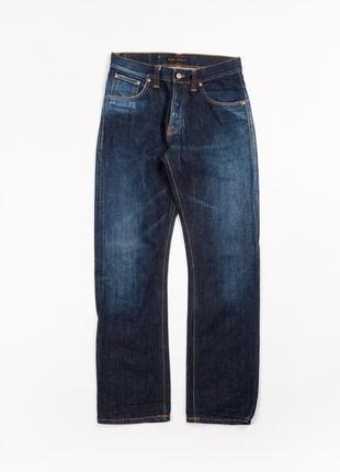 Темно синие джинсы nudie jeans