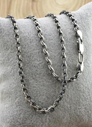 """Серебряная цепочка с чернением """"венеция"""", длина 55 см, ширина 3.5 мм, вес 11.6 г"""