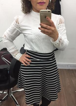 Белая блуза с кружевом3 фото
