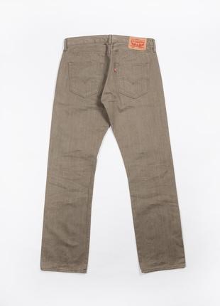 Редкие хаки / зеленые джинсы levi's 501 limited