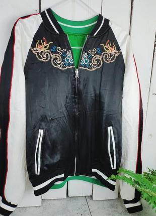 Двостороння атласна курточка
