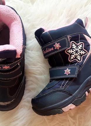 Зимние термо-ботинки для девочки tom.m, зимние ботинки tom.m 28 размер