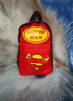 Рюкзак красный супер мен для мальчика