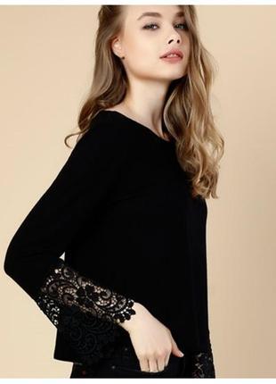 Блуза с красивыси рукавами из висеозы