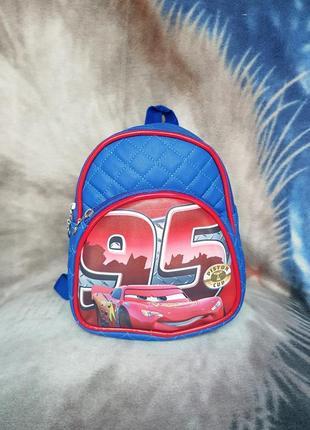 Рюкзак кож зам маквин машинка синий
