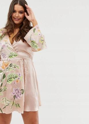 Asos романтична вишита сукня на запах