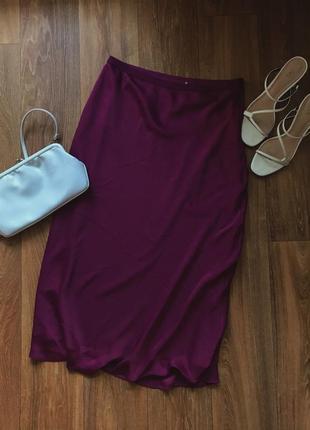 Трендовая шелковая юбка h&m