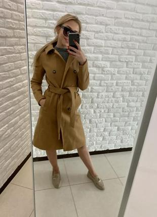 Шерстяное пальто осень- зима