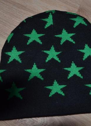 Деми шапка мальчику 1-3г двойная вязка