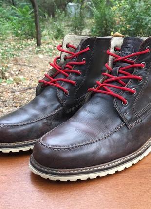 Высокие ботинки кожаные коричневые lacoste marceau srm р.44 original