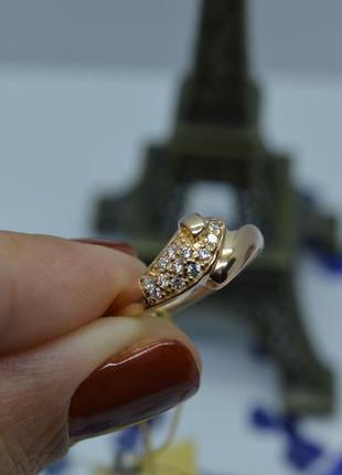 Золотое #кольцо #каблучка #обручка #камни #золота_каблучка #585 17р-р4 фото